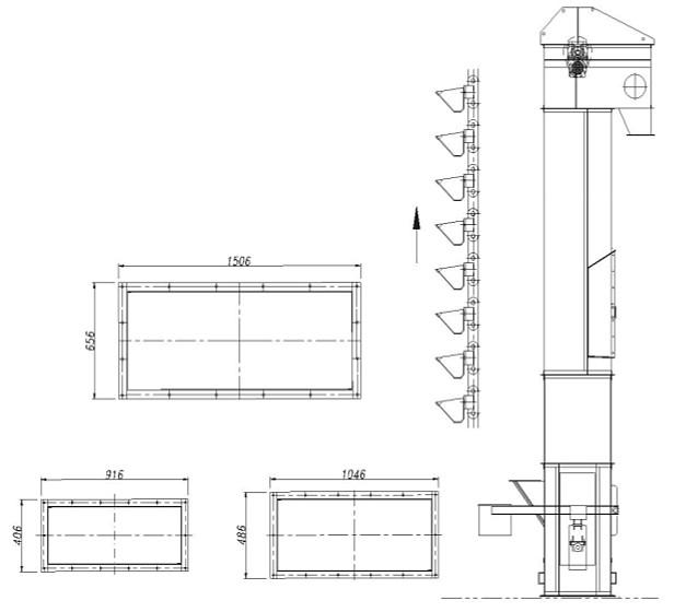 Technische Kenndaten Schaufel-Elevatoren